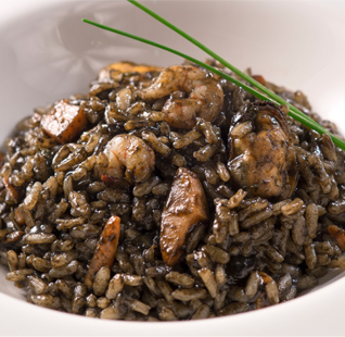 L'arròs negre com a plat fresc