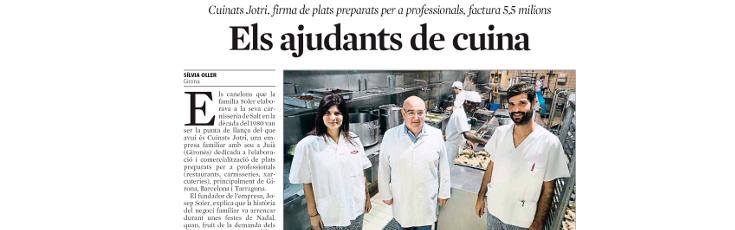 La Vanguardia dedica un reportatge a Cuinats Jotri