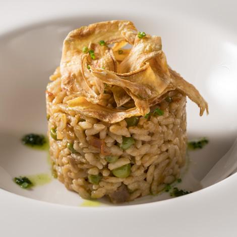 Paella de arroz con verduras