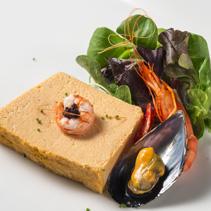Mousse de pescado de roca