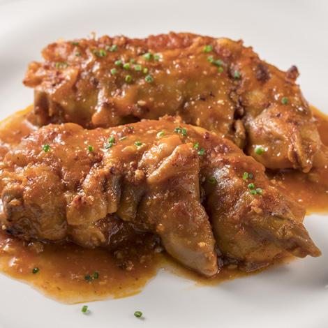 Peus de porc amb salsa