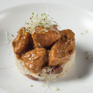 Pollo Tikka Masala con arroz Thai
