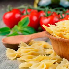 Ensalada de pasta con vinagreta de frutos secos