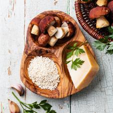 Risotto amb salsa funghi porcini