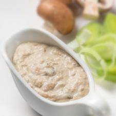 Risotto con salsa funghi porcini