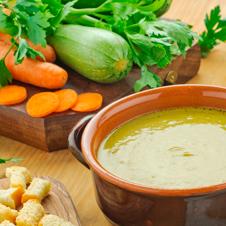 Tagliatella con crema de verduras