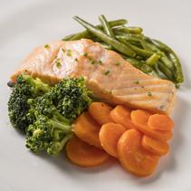 Salmón de Noruega con verduras