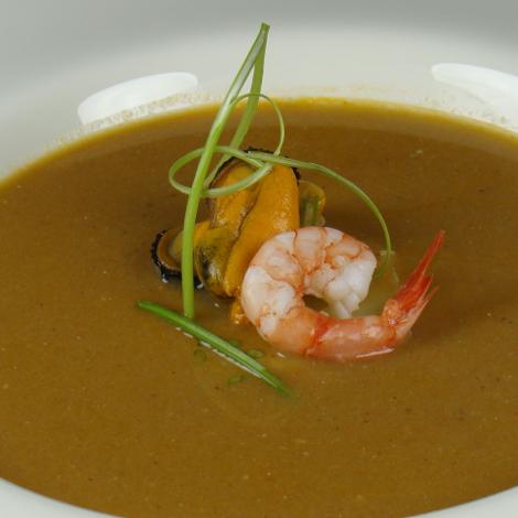 Sopa de peix amb gambes