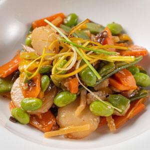 Wok de verdures amb salsa Tamari